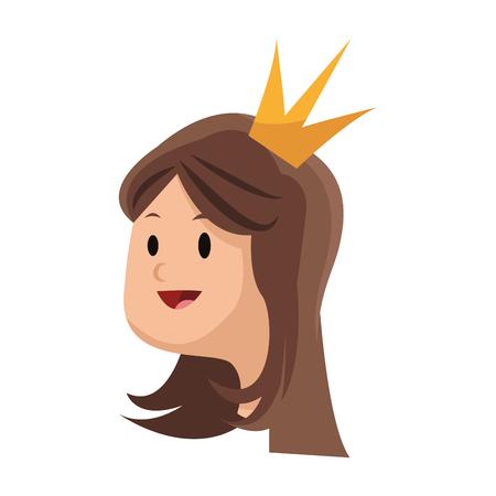 prestige: princess cartoon icon over white background. colorful design. vector illustration Illustration