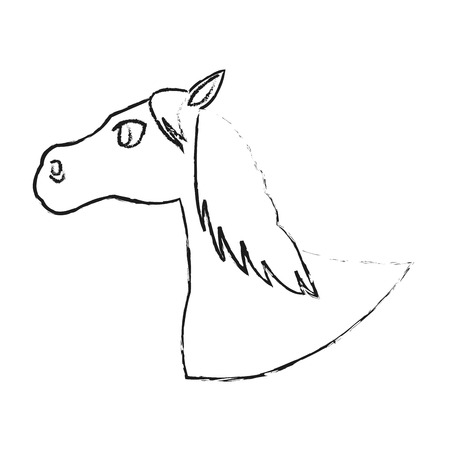 horse icon over white background. vector illustration Illustration