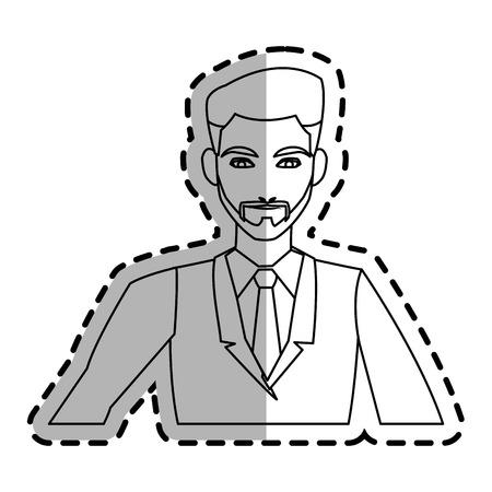 businessman cartoon icon over white background. vector illustration