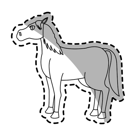 horse icon over white background. vector illustration Illustration