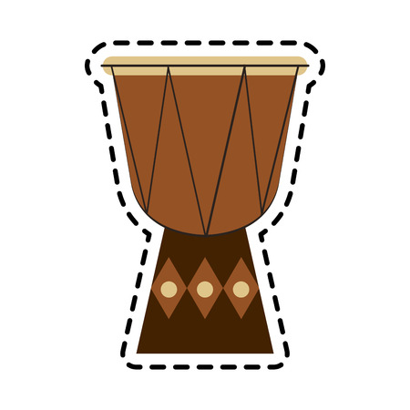 djembe drum: djembe drum instrument icon over white background. colorful design. vector illustration Illustration
