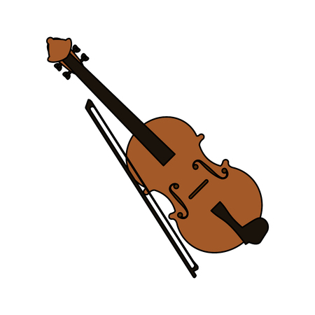 fiddle instrument icon over white background. colorful design. vector illustration Illustration