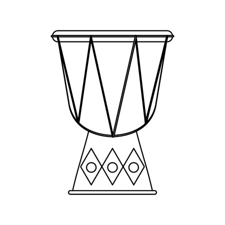 djembe drum: djembe drum instrument icon over white background. vector illustration Illustration