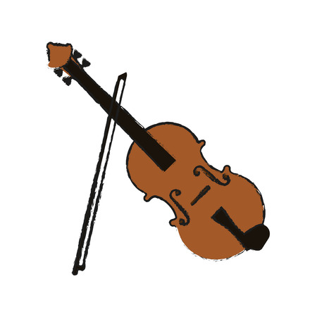 fiddle instrument icon over white background. vector illustration Illustration