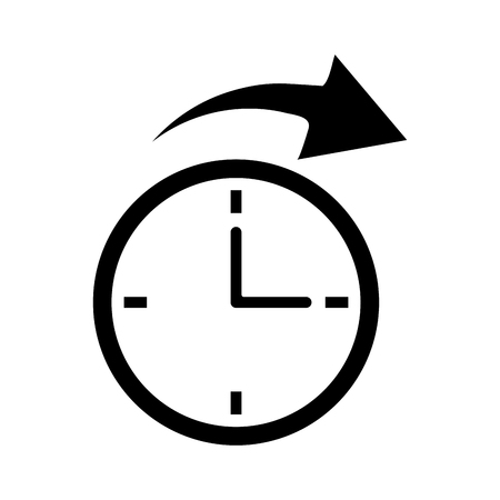 clockwise: clock time arrow around pictogram vector illustration eps 10