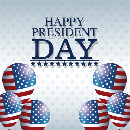 president day: happy president day balloons creative decorative vector illustration eps 10