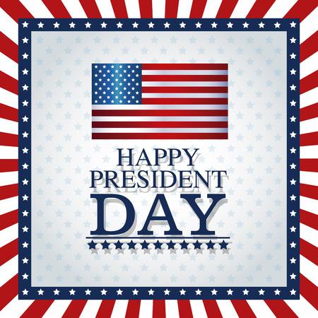 president day: happy president day frame flag stars graphic vector illustration eps 10