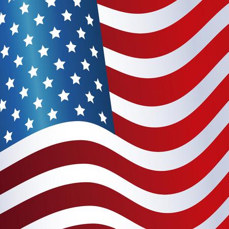 president day: president day flag united states of america waving design vector illustration eps 10