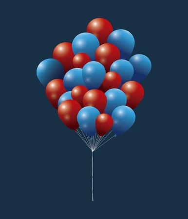 president day: president day bunch balloon flying decorative celebration vector illustration eps 10