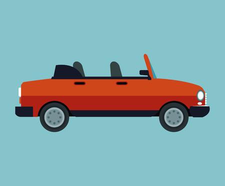 convertible car sport vehicle vector illustration eps 10 Illustration