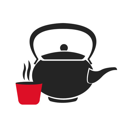 teapot tea herb japan vector illustration eps 10 Illustration