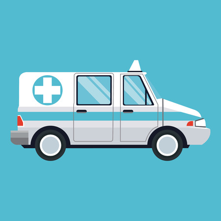 ambulance emergency transport help vector illustration