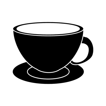 coffee cup cappuccino plate pictogram vector illustration eps 10