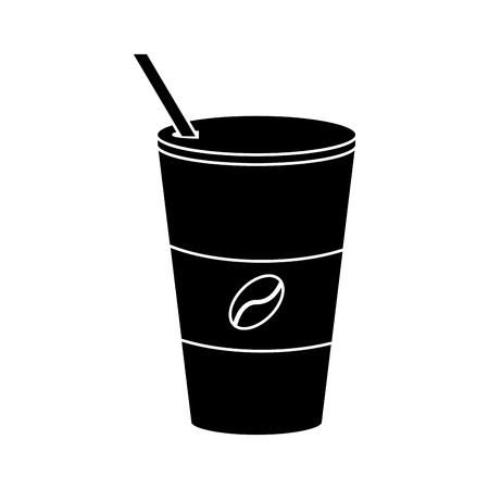 taza de café de papel to-to pictograma ilustración vectorial eps 10