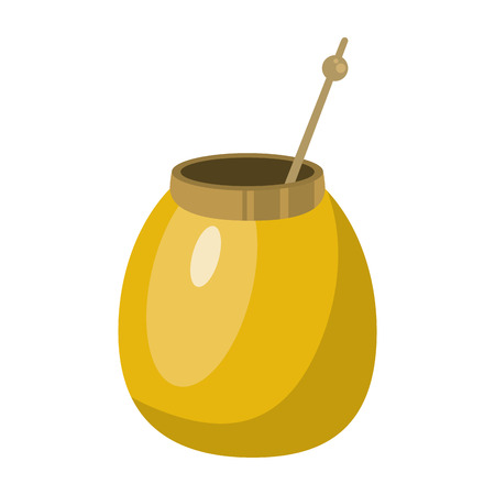gaucho: mate tea calabash herb vector illustration