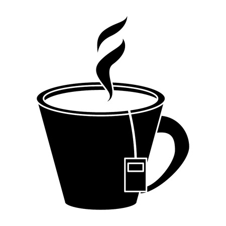 tea hot cup herb aromatic pictogram vector illustration eps 10