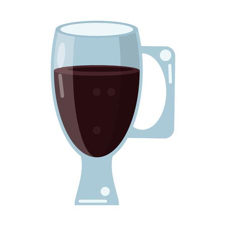 cup glass refreshment cold liquid vector illustration Illustration