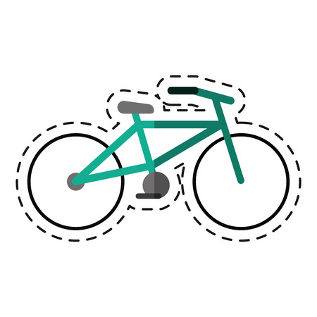 soft pedal: bicycle transport ecology -cut line vector illustration
