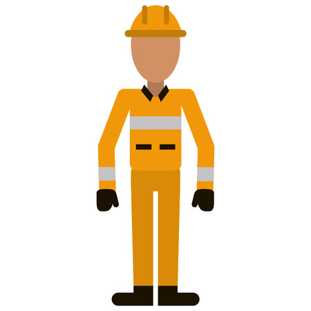construction man helmet uniform vector illustration Illustration