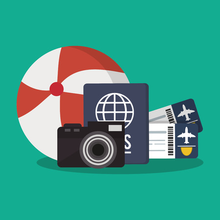 desing: travel and tourism related icons. colorful desing. vector illustration Illustration