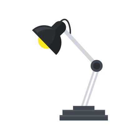 desk lamp icon over white background. colorful desing. vector illustration