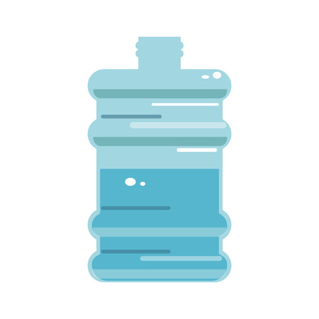 gallon water bottle icon over white background. colorful desing. vector illustration