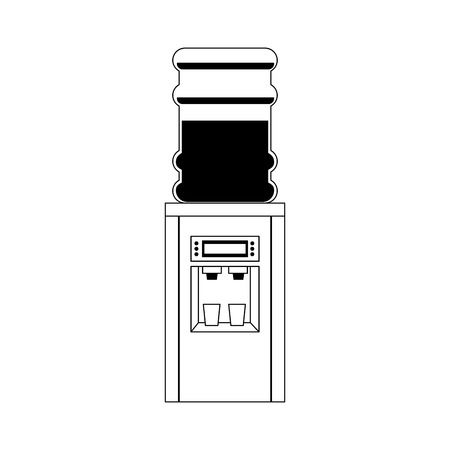 water: water dispenser icon over white background. vector illustration