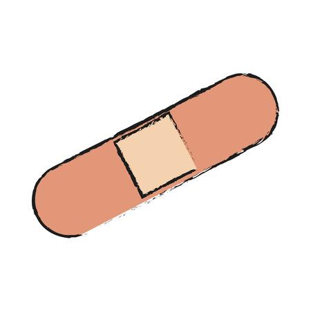 adhesive bandage icon over white background. vector illustration Illustration