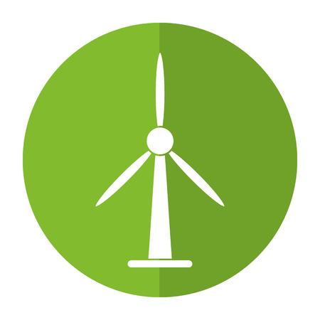 wind turbine energy bio tower shadow vector illustration eps 10