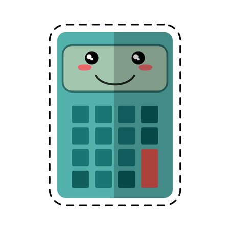 cut line: calculator mathematics accounting cut line vector illustration eps 10
