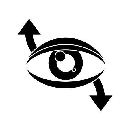 tracking: eye virtual reality 360 degree pictogram vector illustration Illustration