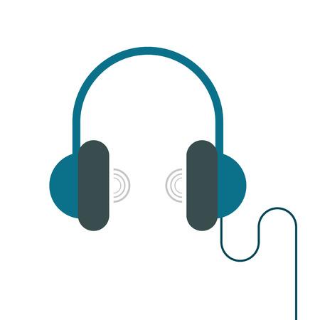 headphones device vr gadget vector illustration