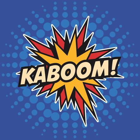 kaboom stars pop art design vector illustration