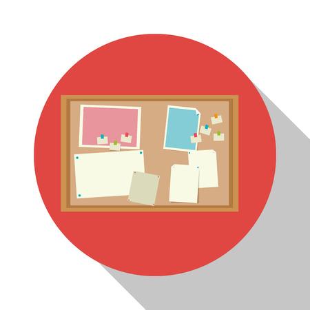 notice board: notice board office object shadow vector illustration Illustration