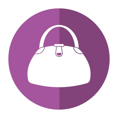 woman shadow: woman handbag fashion style shadow vector illustration