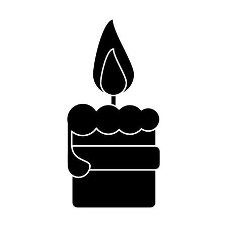 easter candle: easter candle flame with ribbon decoration pictogram vector illustration eps 10 Illustration