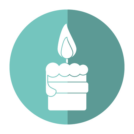 easter candle: easter candle flame with ribbon decoration shadow vector illustration eps 10