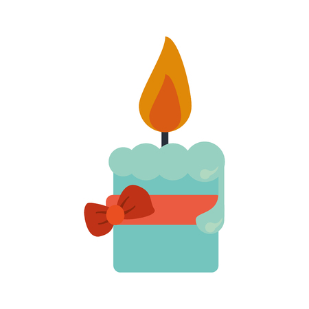 easter candle: easter candle flame with ribbon bow decoration vector illustration eps 10