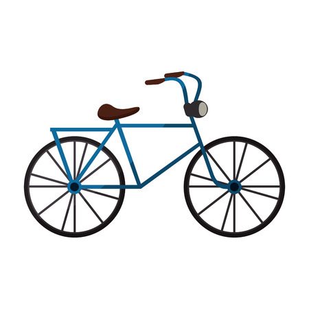 bicycle icon over white background. colorful design. vector illustration