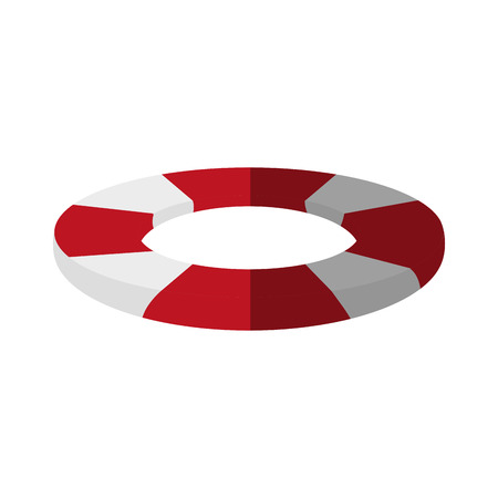 lifeguard float icon over white background. colorful design. vector illustration
