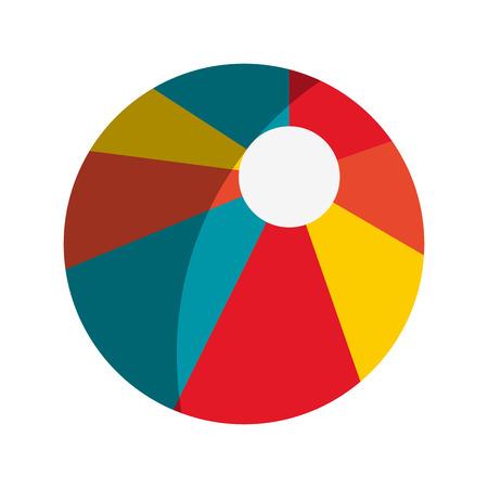 bola de billar: pool ball icon over white background. colorful design. vector illustration Vectores