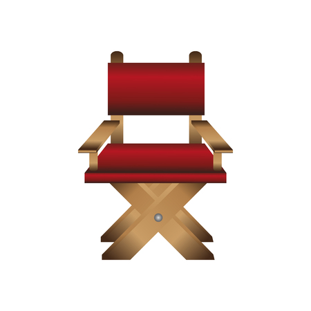 director chair icon over white background. colorful design. vector illustration