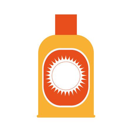 sunblock bottle icon over white background. colorful design. vector illustration Illustration