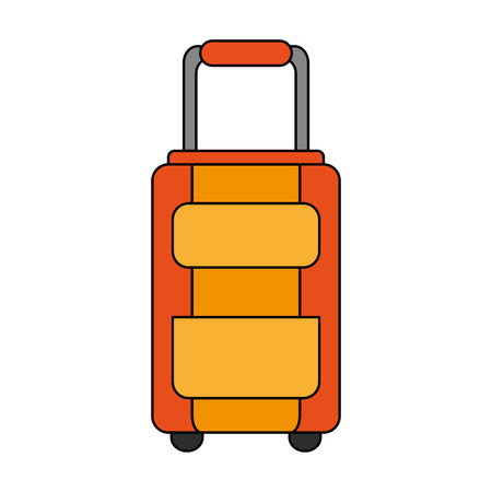 travel briefcase icon over white background. vector illustration