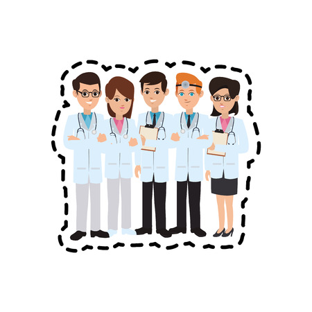 physicians: group of physicians medical doctor icon image vector illustration design
