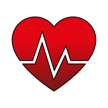 cardiograph: heart cardiogram icon image vector illustration design Illustration