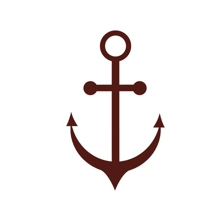 anchor icon over white background. vector illustration