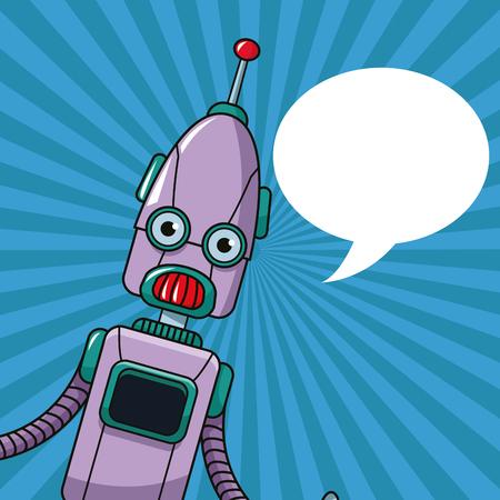 talking robot: robot technology toy bubble speech vector illustration eps 10