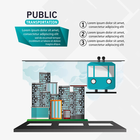 clambering: funicular cable car public transport urban background vector illustration eps 10