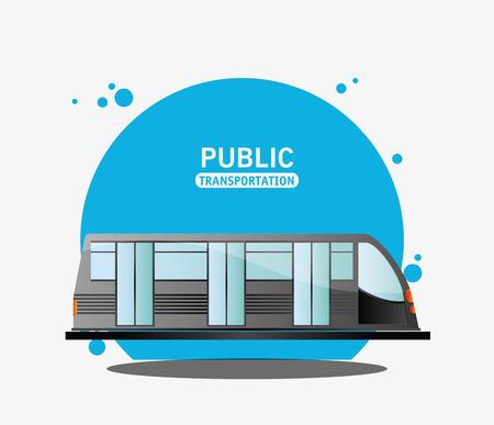 public transport electric train vector illustration eps 10 Illustration